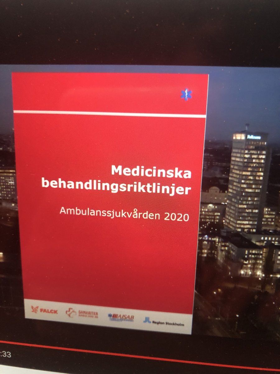 Utbildningsdag digitalt idag för att få fortsätta jobba i ambulansen! Så jäkla bra att vi nu får ut Fentanyl! Och Midazolam även vid svår oro! ♥️ Är vi specssk i ambulanserna är det rimligt att vi kan göra så mycket som möjligt! #sweamb #akva2020 https://t.co/vTwtiCJP4f