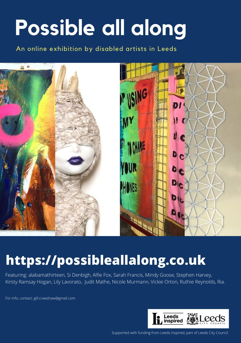 #PossibleAllAlong launched yesterday as part of #LeedsForAll and aligning with the #InternationalDayofDisabledPeople 2020. It's a fantastic online exhibition showcasing the work of disabled artists in Leeds. We'd highly recommend taking a look. @MyForumCentral @WMDLC @ShoddyArts