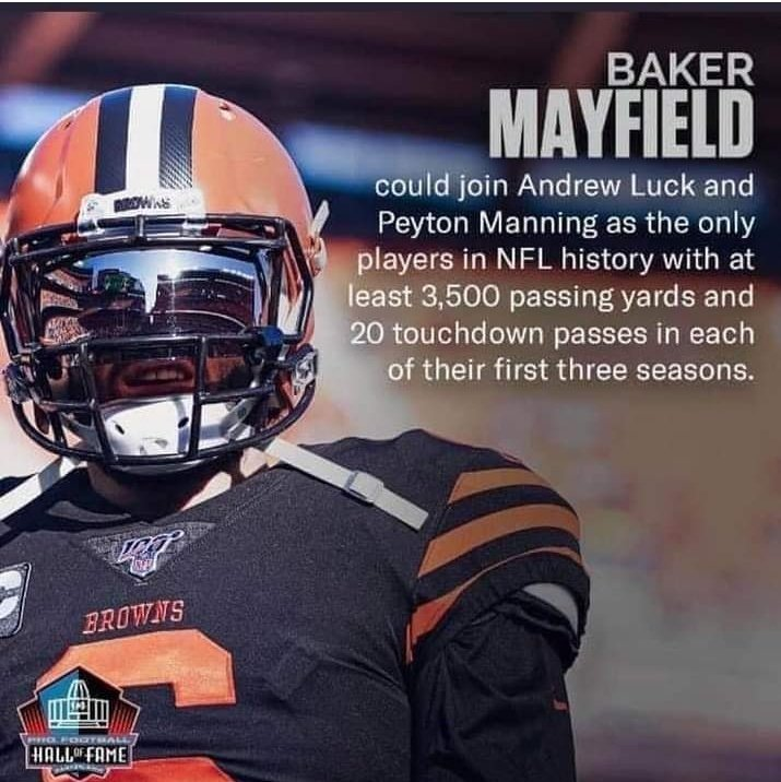 Way to go @bakermayfield Go #Browns