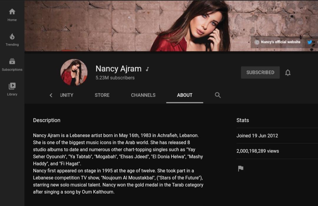 The first arabic female artist to hit 2Billion views on her official youtube channel 🔥😍 Congratulations Queen 👸 @nancyajram #nancyajram #نانسي_عجرم