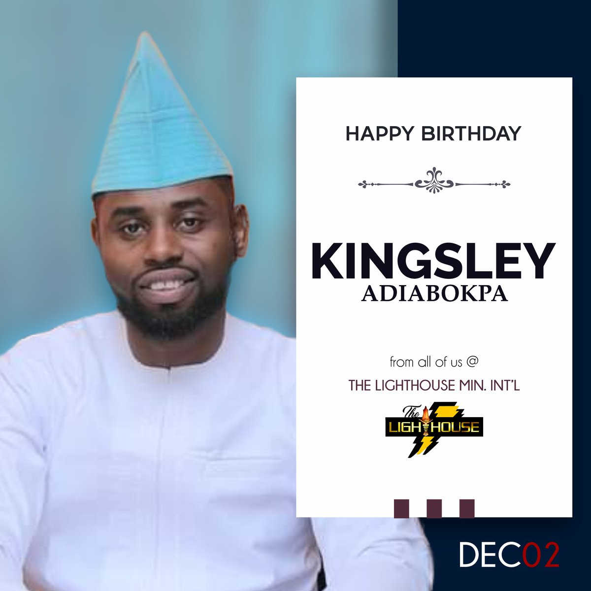 Happy birthday, Kingsley Adiabokpa.   Celebrating one of those who keep The Lighthouse engine running smoothly!  #WorkForce #IAmLighthouse #DecemberBorn #Lighthouse #Birthday #Celebrations