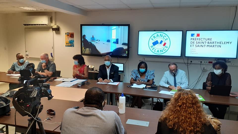 Le comité départemental du Plan de relance prend ses fonctions à #SaintBarthélémy et #SaintMartin