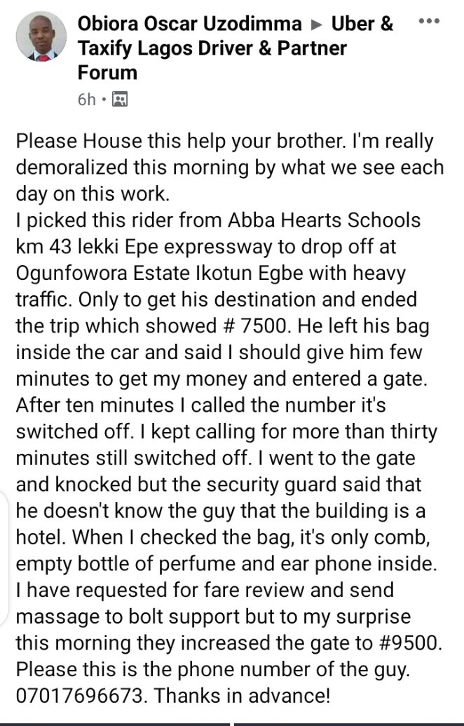 #Mazismallbusinesschallenge  #wednesdaythought  #bobrisky  #COVID19   @boltapp  @Boltapp_ng  Kindly do the needful asap driver has just been scammed...