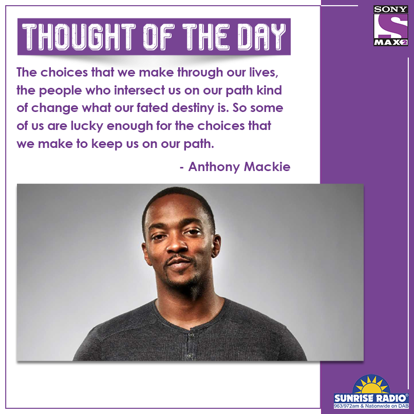 The right choices can lead to success in the future ​  #AnthonyMackie ​  #ThoughtOfTheday #quote #qotd  #MAX2UK #ClassicBollywoodMovies  #SundayMotivation #motivation #risk #SundayThoughts ​  @ThisIsSunrise