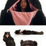ドッキリにも使えそう?暖かそうなクマの寝巻が欲しい!