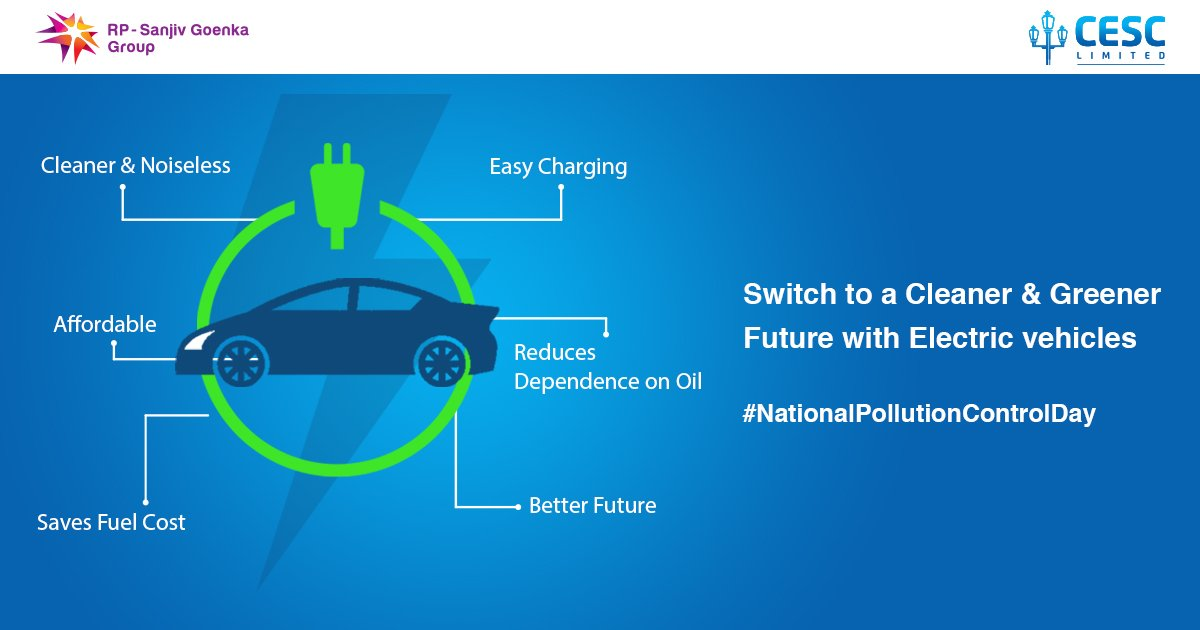 Let's fight pollution to bring the right changes in the Environment and together embrace a greener lifestyle. Opt for Electric vehicles for a cleaner and sustainable future on this National Pollution Control Day.  #nationalpollutioncontrolday #LiveFreeBreatheFree #cesclimited https://t.co/9EXHX1GYre