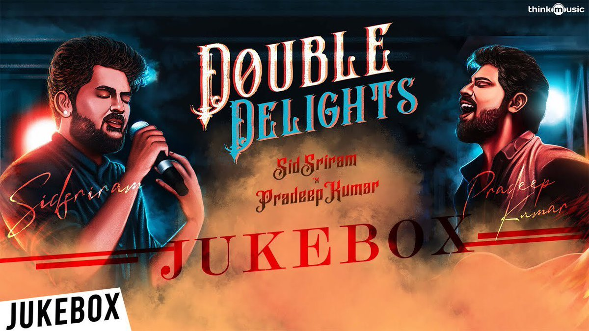 Play and Enjoy this #DoubleDelights Jukebox featuring songs in  mellifluous voice of  @sidsriram & #pradeepkumar  🎧🎶▶️