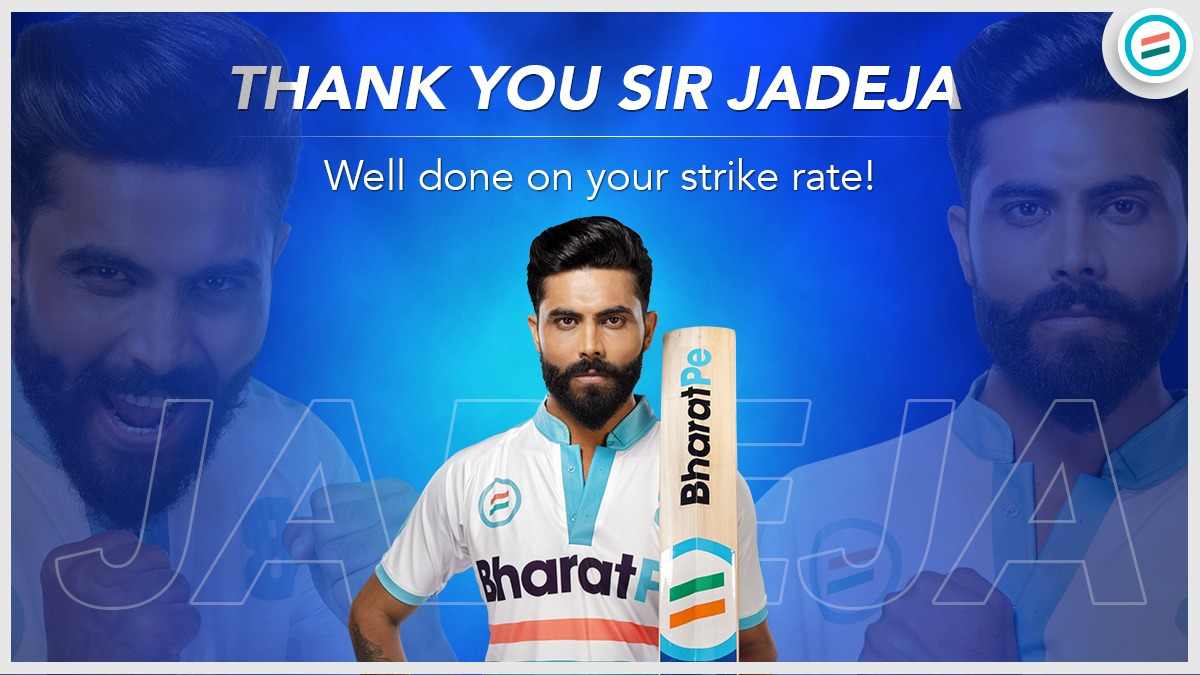 Ravinder Jadeja's game changing inning inspired hope and excitment among Indian fans. Great going Sir Jadeja! @imjadeja  #greatinnings #TeamBharatPe #RavindraJadeja #SirJadeja #indianteam #indiacricket #slippershot #swordcelebration #shubmangill #cricketstars #Cricket