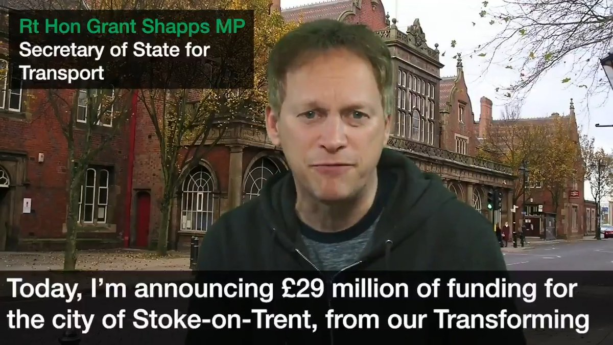 """Rt Hon Grant Shapps MP on Twitter: """"We're investing £29m from our  #TransformingCitiesFund into @SoTCityCouncil's transport network, which  will help people: 👉 get around easier 👉 access job opportunities 👉 use  greener"""