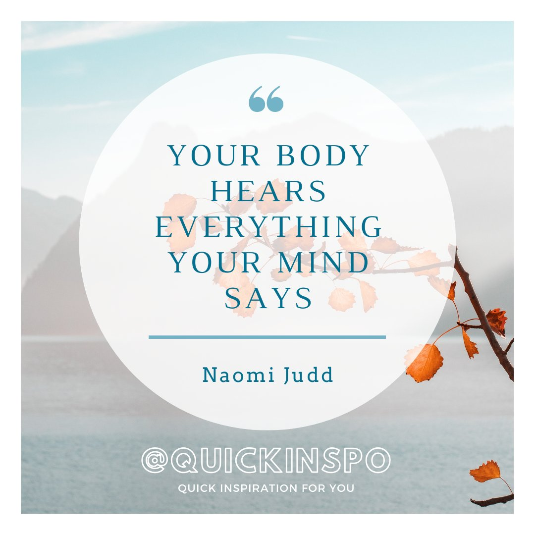 Comment your thoughts below!  #wednesdaythought #Wisdom #health  @TheNaomiJudd