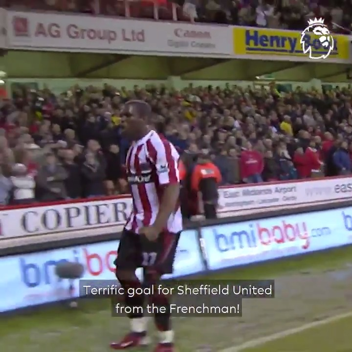 A memorable goal in a memorable match...  @SheffieldUnited sunk Arsenal thanks to 𝘵𝘩𝘪𝘴 😍  #GoalOfTheDay