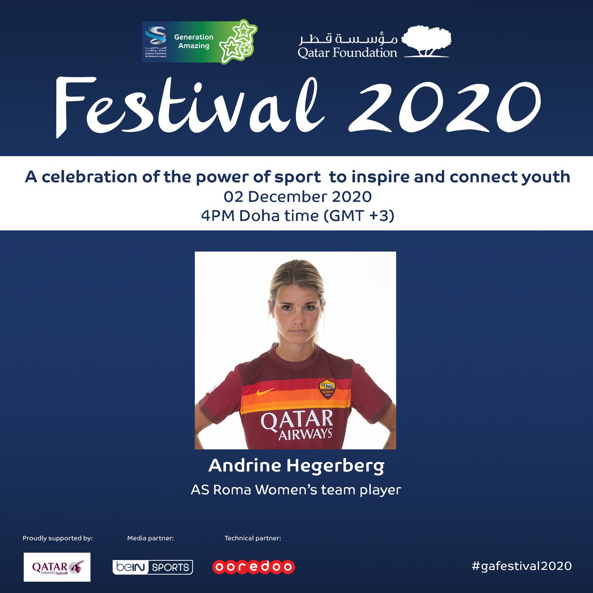 Generation Amazing's #GAFestival2020 gets underway today!   Our very own @AndrineStolsmo is a guest for the first @GA4good webinar - register now to watch the event at 14:00 CET!   ➡️