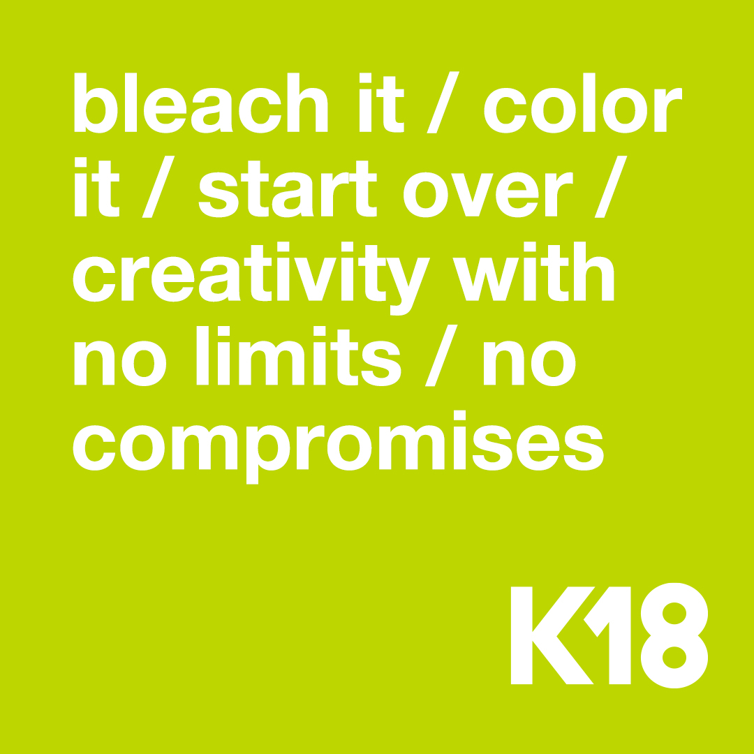 For all hair types, for every generation.  #k18hair