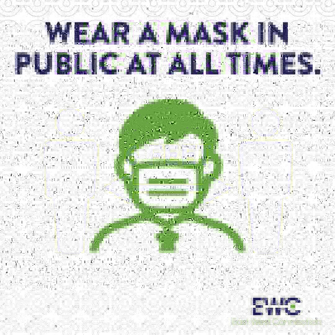 #WednesdayWisdom Wear a mask and practice social distancing!