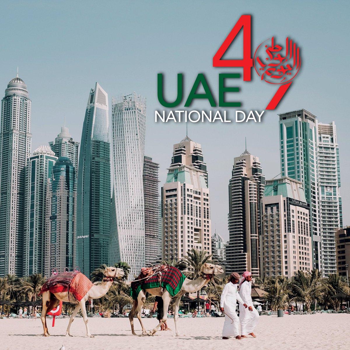 كل عام وأهلنا وأخوانا بالإمارات بألف خير وصحة وعافية 🤍 🇦🇪  #اليوم_الوطني49 #UAENationalDay49