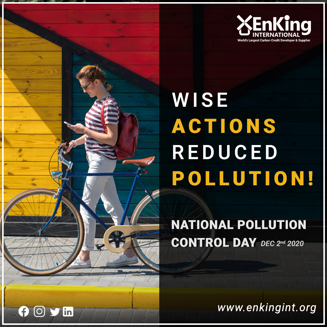 A small change in the day to day activities can lead us to #PollutionFree tomorrow... #ThinkWise #NationalPollutionControlDay   #EKI #EnKingInternational #EmissionTrading #ClimateChange #GlobalWarming #EnKingIndia #Indore