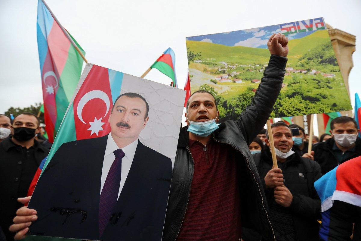 """الرئيس الأذربيجاني إلهام علييف يعلن اعتبار يوم 10 نوفمبر/تشرين الثاني مناسبة وطنية باسم """"يوم النصر"""" والاحتفال بها كل عام وذلك لاعتراف #أرمينيا بهزيمتها أمام #أذربيجان في نفس اليوم"""