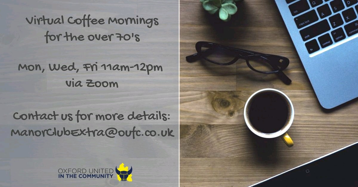 We're pleased to be partnering with @OUFCcommunity  & @AgeUKOxon  to reduce loneliness among  older people: ⚽ 'Manor Club Extra' online videos, ⚽printed brochures, ⚽ virtual coffee mornings  Part of  @EFLTrust  Tackling Loneliness Together campaign. https://t.co/4KOGg01feX