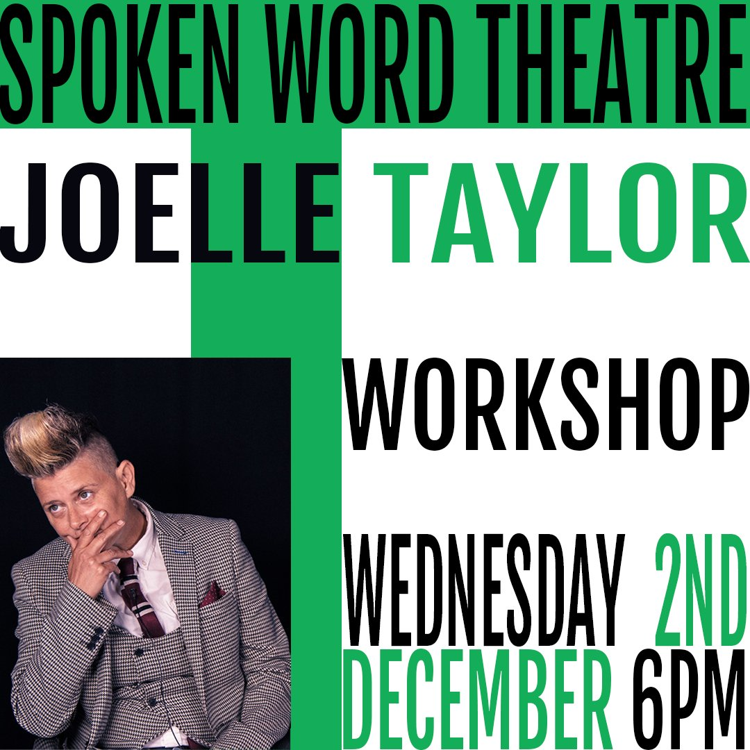 Spoken Word Theatre with @JTaylorTrash is LIVE tonight at 6pm! See how you can turn your writing from the page to the stage in this incredible workshop all about how your work can become a performance. 🎫-bit.ly/2N8A18G