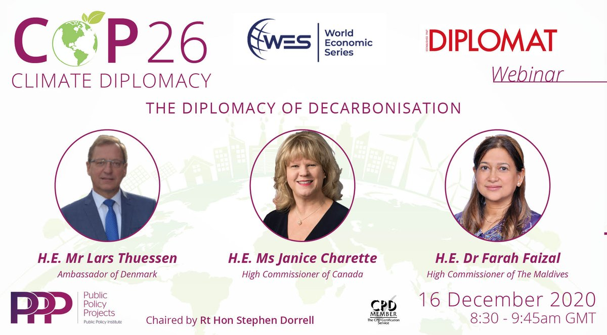 test Twitter Media - 16th December: Join @Policy_Projects & @LondnDIPLOMAT for the 2nd session in Maximising COP 26 series 'World Economic Series: The Diplomacy of Decarbonisation' with H.E. Mr Lars Thuesen @DKAmbUK, H.E @JaniceCharette & H.E. @DrFarahFaizal   Register: https://t.co/aGauvvFkLk https://t.co/xOmt6RPW22