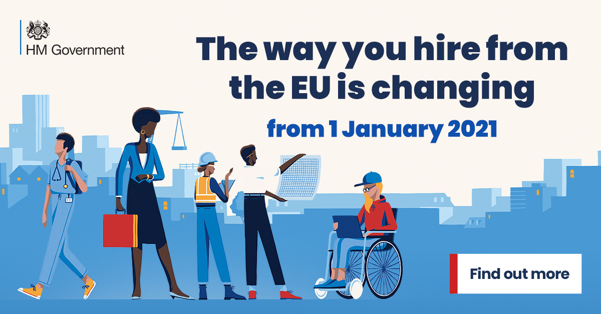 Free movement is ending & the new points-based immigration system will introduce job, salary & language requirements that'll change the way you hire from the EU    #WednesdayWisdom #brexit #transition #recruitment #CheckChangeGo #smallbusiness #smallbiz