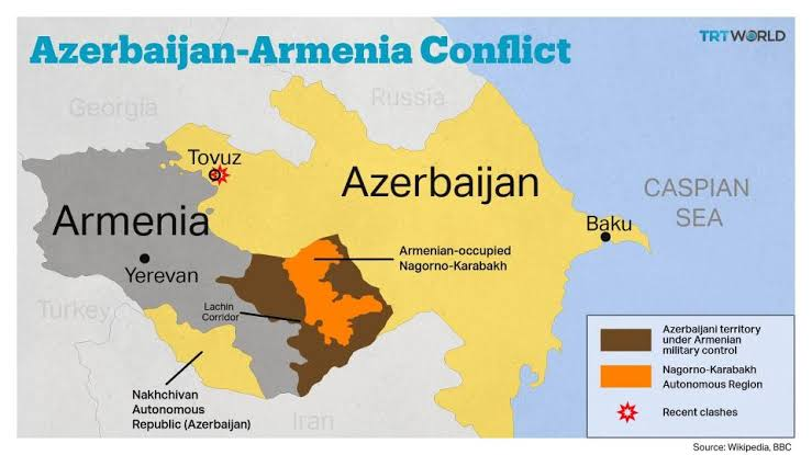 #آرمینیا اور #آزربائیجان  کے درمیان طویل تاریخی جنگ کے پیچھے مذہب تو کہیں نہیں یا  صرف خطہ زمین #نکوراکاراباغ نہیں بلکہ نسلی تفاوت پر مبنی نفرت آمیز #جنگ بھی شامل ہے۔ #Azerbaijan #Pakistan #Russia #Turkey #Armenia #Orthodox #wednesdaythought #COVID19