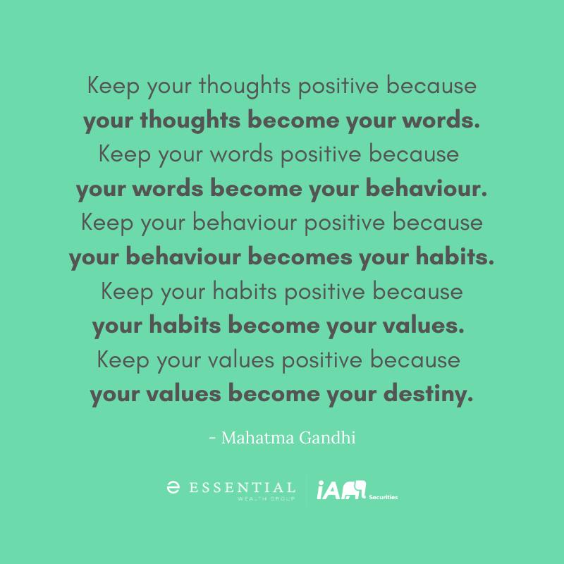 #quote #wednesdaywisdom #positivity #positive #behaviour #habits #values #motivation #success #happy #gandhi