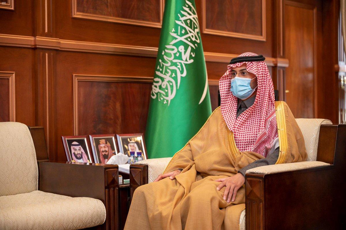 سمو نائب أمير منطقة حائل يستقبل عدداً من مسؤولي الاتحاد السعودي للدراجات.  #واس_عام