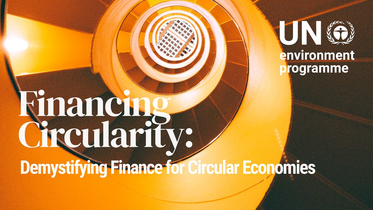 Q: How can financial institutions help redesign global economies? A: By helping to change the way we consume and produce. New @UNEP report on #circularity and the role of the finance industry explains more:  #sustainablefinance