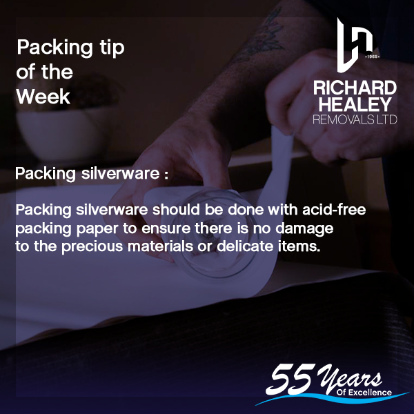 PACKING TIP OF THE WEEK⁠  Acid-free paper is a must when packing silverware to avoid your delicate items getting tarnished. ⁠ To view all 10 Packing Tips, visit our website :   #wednesdaywisdom #packinghacks #packaging #tip