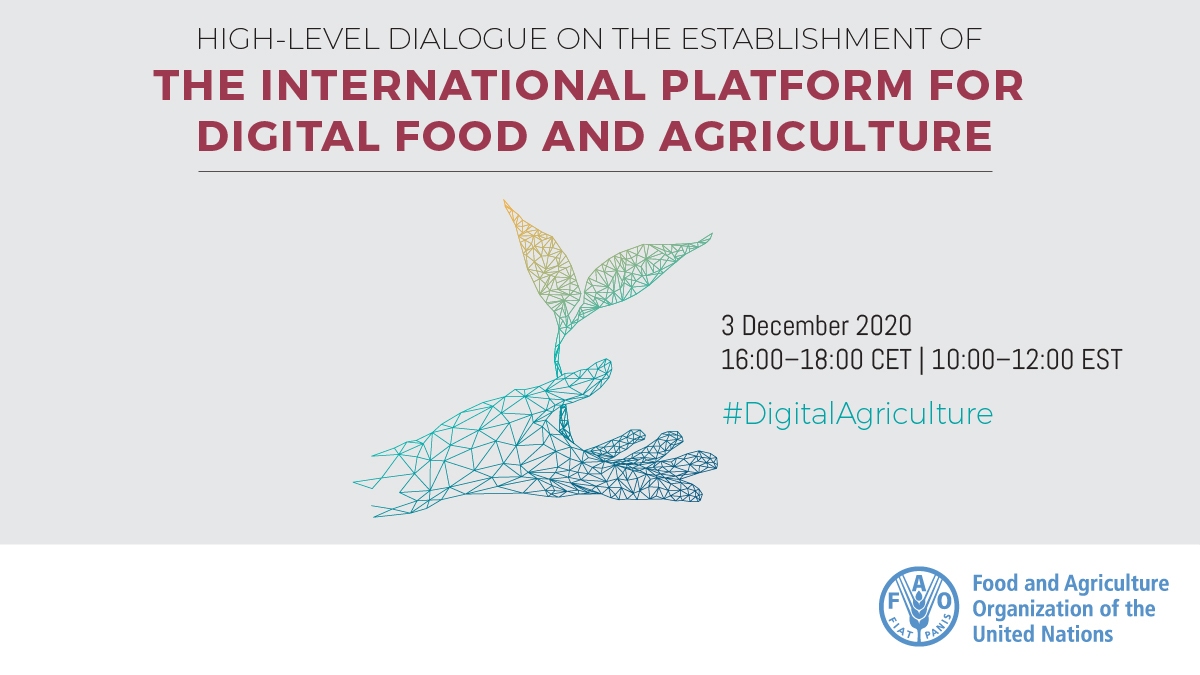 How can we strengthen the potential of digital technology applications on food and agriculture and address the related challenges?   Register for the event on #DigitalAgriculture 👉    3rd Dec, 16:00 CET.