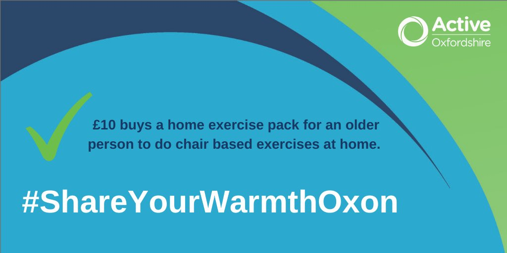 Donations to #ShareYourWarmthOxon can make a big difference to getting housebound older people active & connected this winter.  We, along with @AgeUKOxon, are working every day to enable people to be more active in later life. Find out more here 👇 https://t.co/z63vV1m2jq