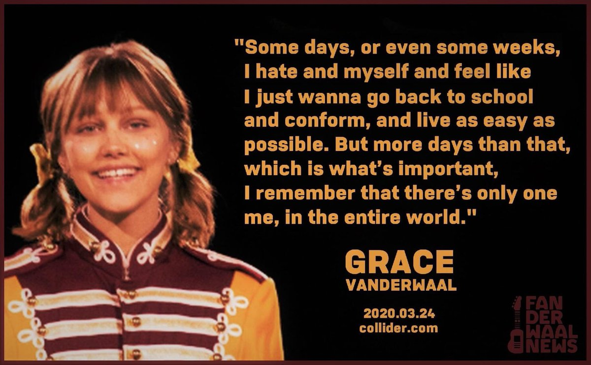 #WednesdayWisdom • 2020.03.24 ⭐️🌵  @Collider published an interview with @GraceVanderWaal about her début film, @Stargirl. They asked her thoughts about her individuality and she responded.  @disneyplus @JerrySpinelli1 #Ready4v2📬 #ChooseKindness