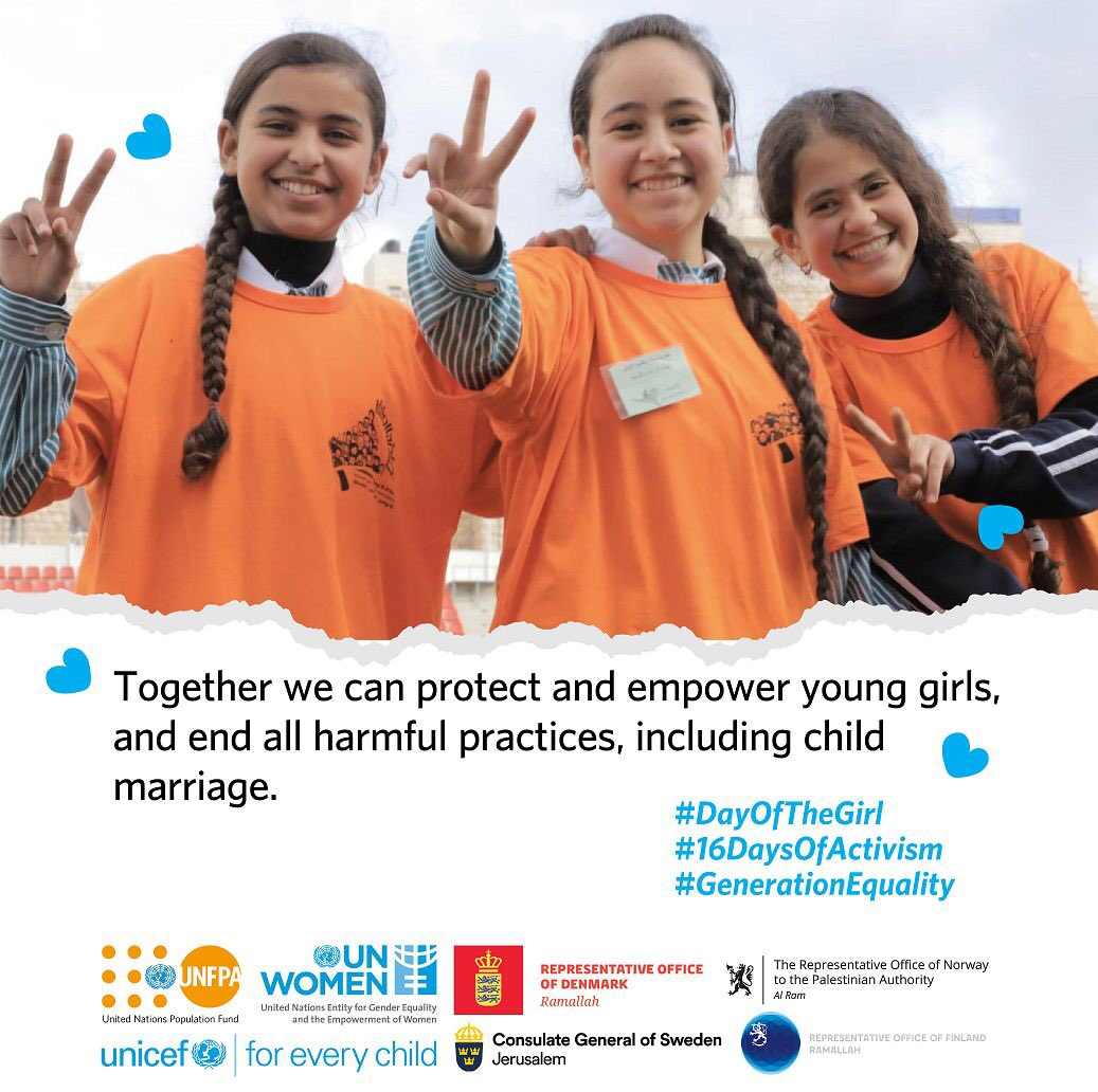 #Child marriage remains a key #GBV issue and a child protection concern. We are committed to ending #CEFM by 2030 in line with #SDG 5.3! #ChildRights #DayOfTheGirl #16DaysOfActivism #GenerationEquality +AGSMC-1  @UN_Women