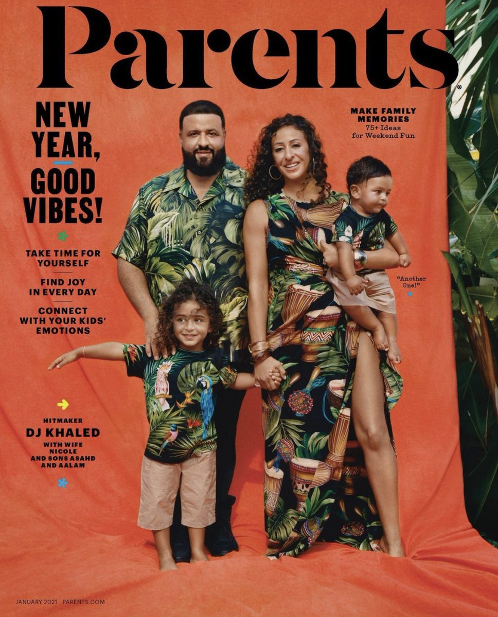 #KHALEDFAMILY COVER ALERT 🚨The most important thing in my life is my FAMILY and being a parent!🤲🏽 FATHERHOOD changed my life!My Queen, Asahd and Aaalam I love you all so much!You make me great! Thank you @parentsmagazine ! Bless up all the parents!