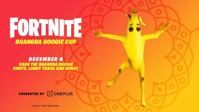It's a Celebration!  Compete in the Bhangra Boogie Cup on Dec 6 for a chance to win in-game goodies AND a OnePlus 8T, the only phone to run Fortnite at 90FPS, thanks to our friends @OnePlus!  All prizing and details here: