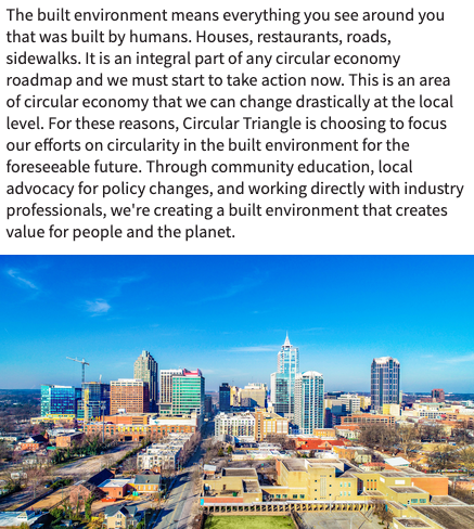 Our statement below on why we've chosen to focus our efforts on #circularity in the #builtenvironment.