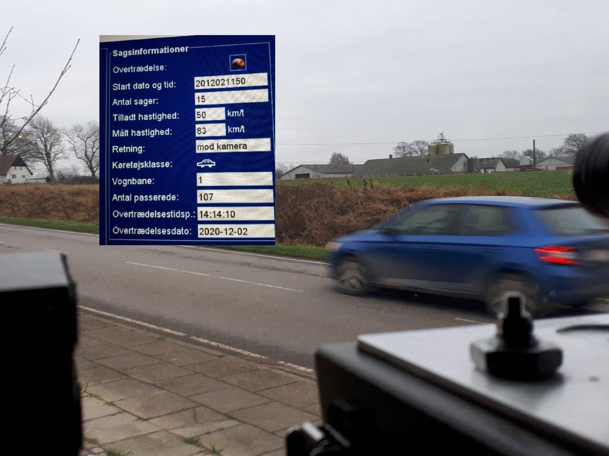Atk målte i dag i Hjerndrup by efter en borgerhenvendelse på https://t.co/U6aoXyj5Jg Resultatet af målingen blev 28 overtrædelser af hastighedsgrænsen på 50kmt, 5 klip, højeste 83kmt #atkdk #politidk https://t.co/Nfwj8eMyTU