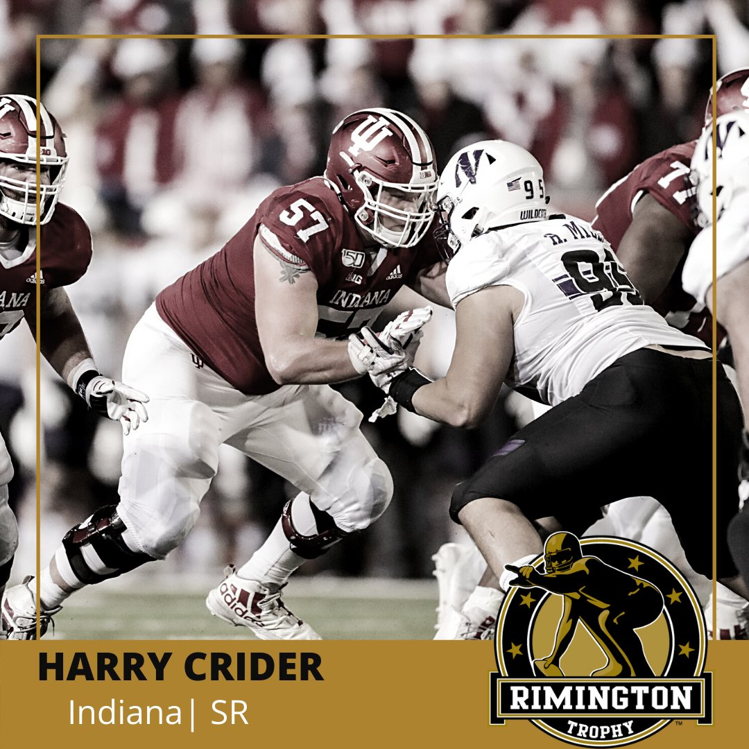 Harry Crider is a two-time academic All-Big Ten selection at @IndianaFootball who...  🏈 Graduated in 2 1/2 years (currently working on a master's) 🏈 Has overcome diabetes - in football and in community service