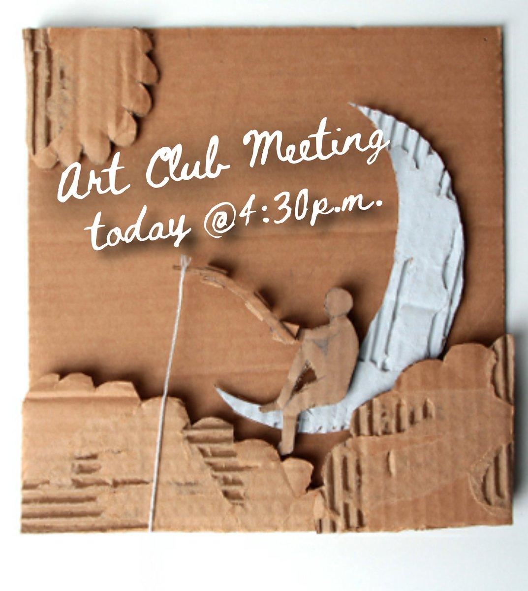 Art Beasts!!! Art Club Meeting today @ 4:30p.m. Email Mrs. Ortiz mortiz47@yisd.net