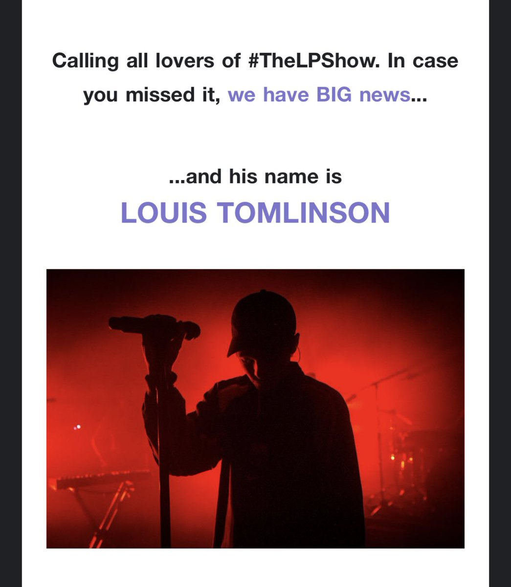 """""""Calling all lovers of the #TheLPShow."""" 😽 now it's gonna be the #TheLTShow"""