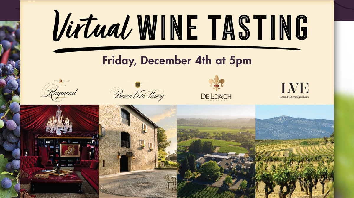 Virtual wine tasting this Friday with @lve_wines! Sign up here: https://t.co/sSRget4pGT https://t.co/9xHejlT1Ta
