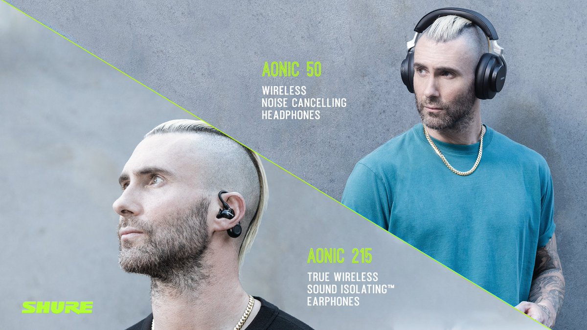 Take your listening to the next level with @shure's AONIC Wireless Headphones and Earphones.