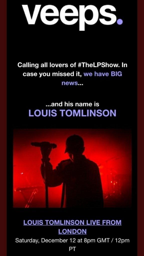 Lütfen sakince #TheLPShow yazan yere vakin