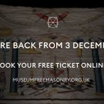 Image for the Tweet beginning: We're delighted to announce @MuseumFreemason