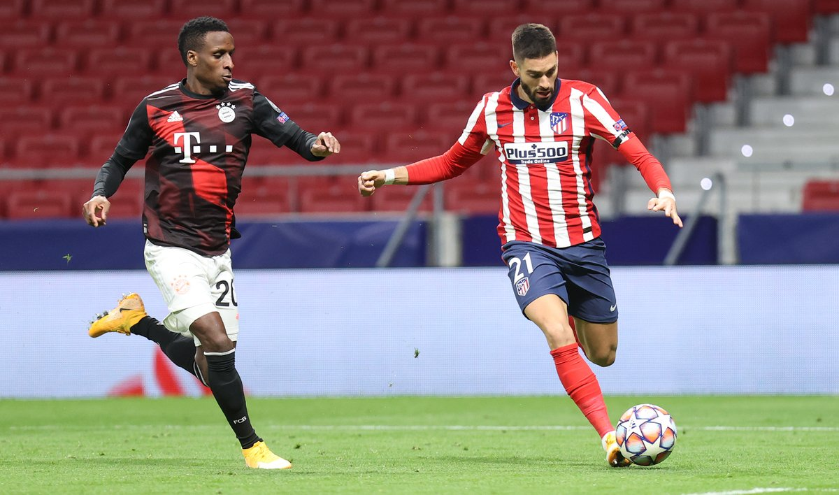 Draw between @atletienglish and @FCBayernEN for #Bundesliga  #AúpaAtleti 1 #FCBayern 1 #AtletiFCB  #topteamsclassics