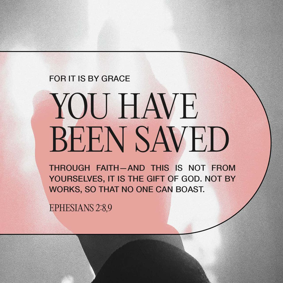 #WednesdayWisdom For by #grace are ye saved through faith; and that not of yourselves: it is the gift of #God  Not of works, lest any man should boast. Ephesians 2:8-9 KJV