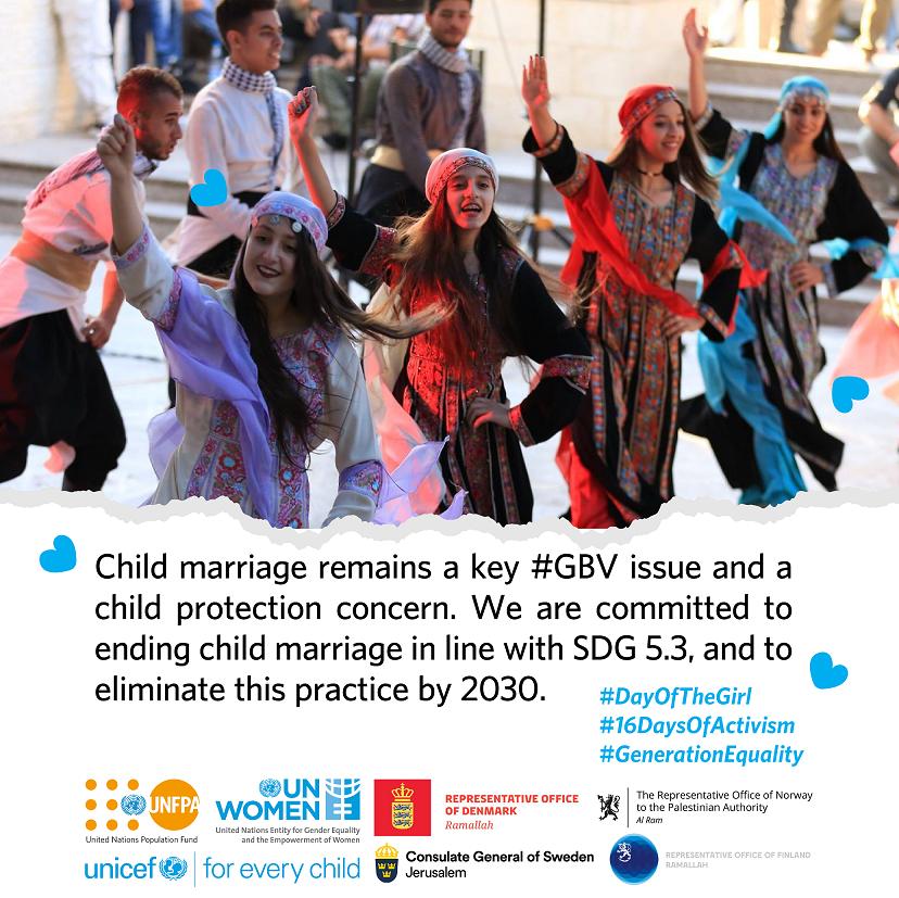 Share and Retweet! #DayOfTheGirl #16DaysOfActivism  #GenerationEquality  @DKRepPAL   @NorwayPalestine @FinPalestine   @SwedeninJERU @UN_Women @UNICEFpalestine  @UNFPAPALESTINE