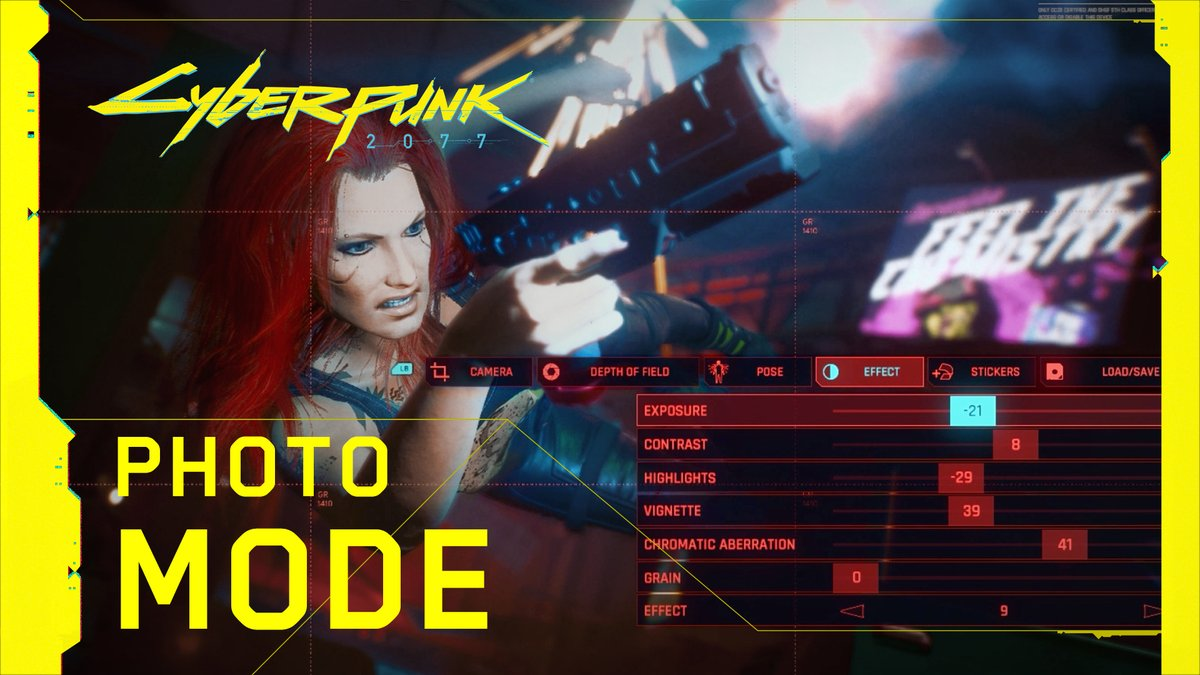 Strike a pose and capture your favourite moments in Night City with #Cyberpunk2077 Photo Mode! See it in action in our newest video. Ready? Say cheese!📸