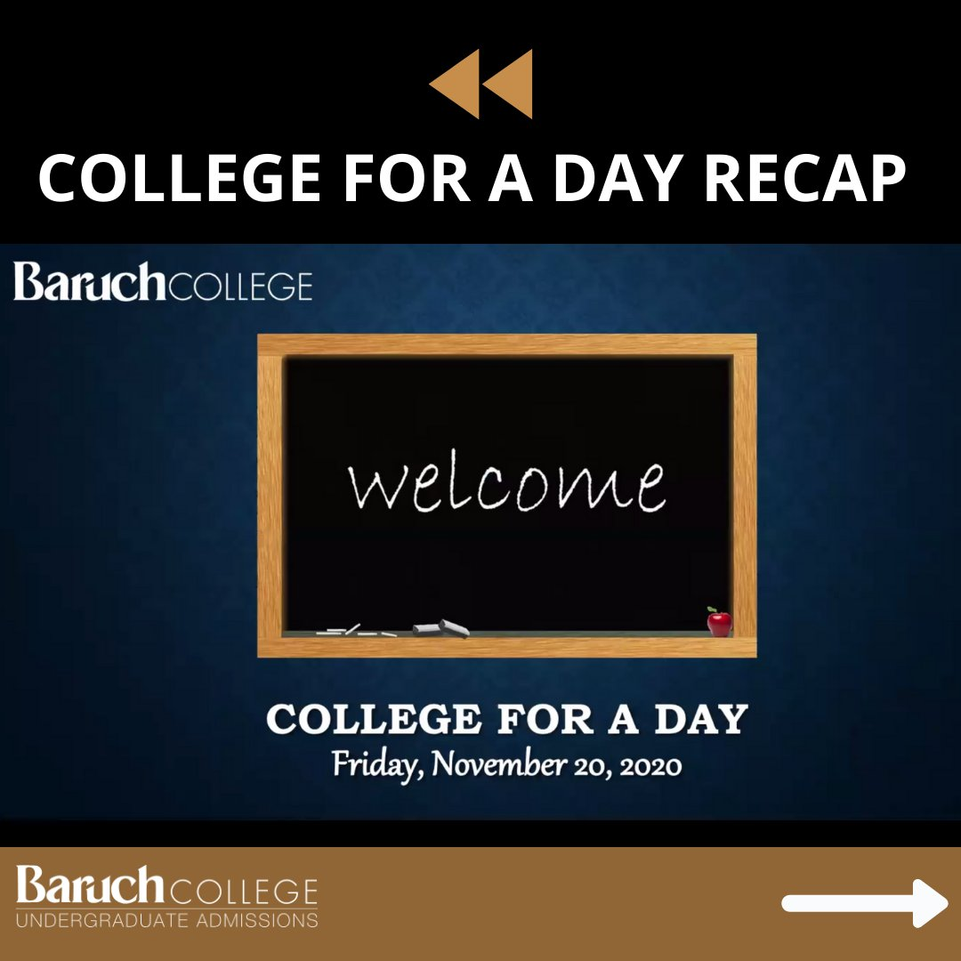 Hey #FutureBearcats! Here's a recap of #CollegeforaDay! High school students had the opportunity to speak with our Welcome Center staff, student ambassadors, and Dean David Birdsell.  #BaruchAdmissions #BeBaruch #BearcatPride #BaruchAdmissions #Classof2025 https://t.co/LPaFNRMKDd